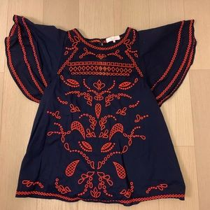 Parker Tops - Embroidered blue blouse